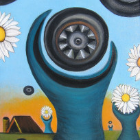 Tire Recycling Concepts No. 1 (Daisies)