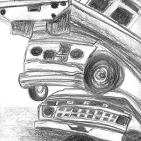 Cars Piled